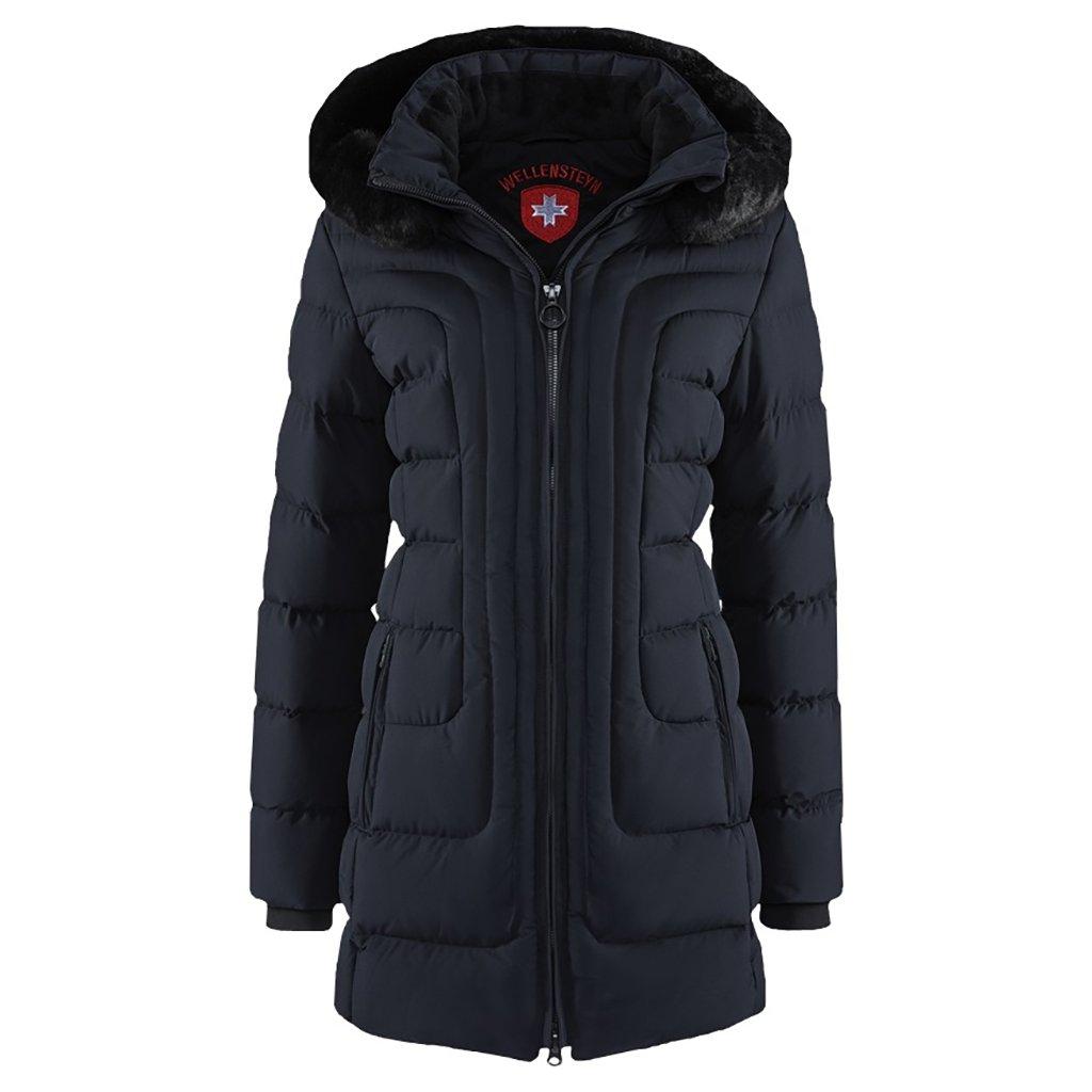 WELLENSTEYN Belvitesse Long ľahká dámska dlhá modrá zimná bunda