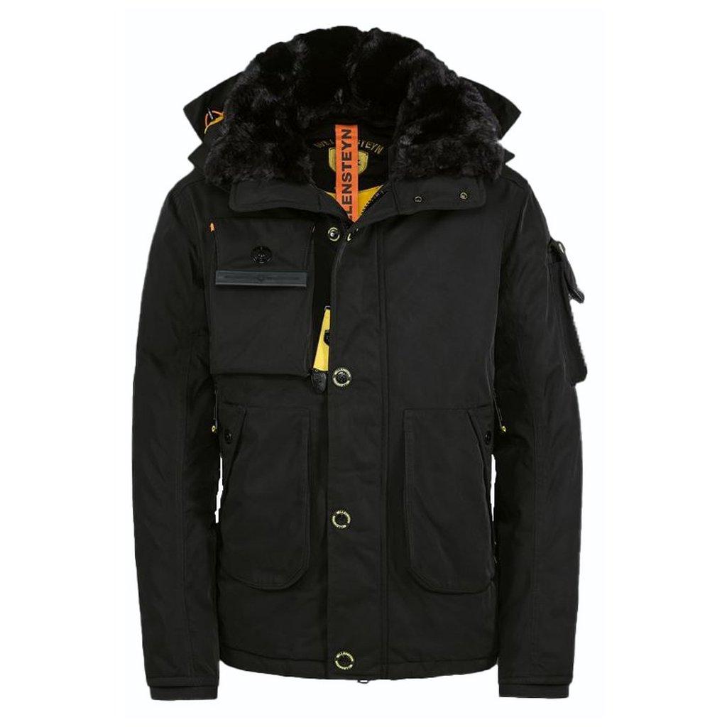 WELLENSTEYN Ameriquest luxusná čierna dizajnová funkčná páperová bunda