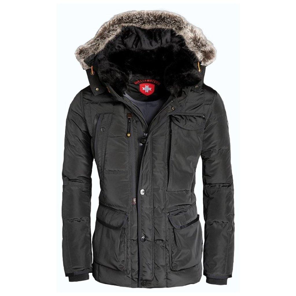 """WELLENSTEYN Marvellous - pánska čierna luxusná """"high-end"""" zimná bunda s jemným leskom"""