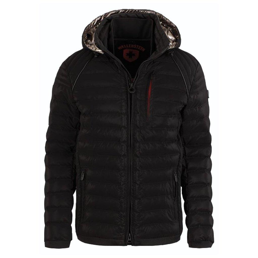 WELLENSTEYN Mol Men Hood - ľahká prechodná bunda s odnímateľnou kapucňou v luxusnom čiernom vzhľade