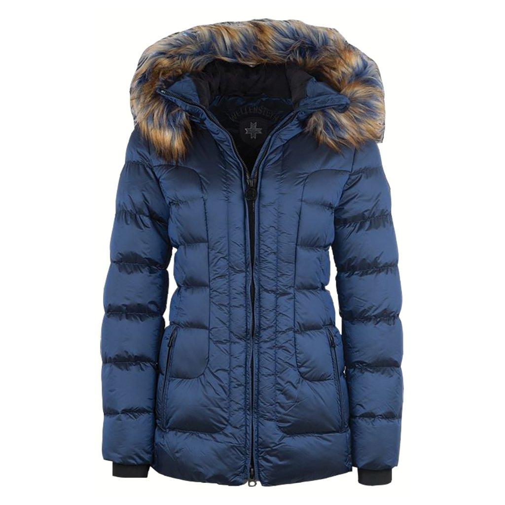 WELLENSTEYN Belvitesse Medium modrá dámska zimná bunda s kožušinou