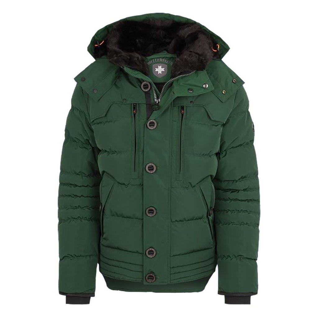 WELLENSTEYN Starstream zelená zimná prešívaná bunda nadmerná veľkosť
