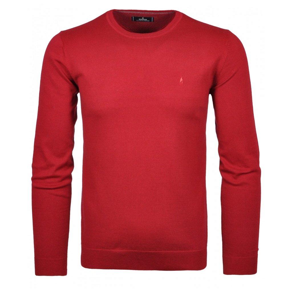 Pánsky červený pulóver s kašmírom RAGMAN