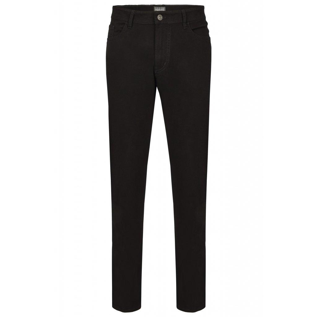 Pánske čierne stálofarebné džínsy HATTRIC, regular fit