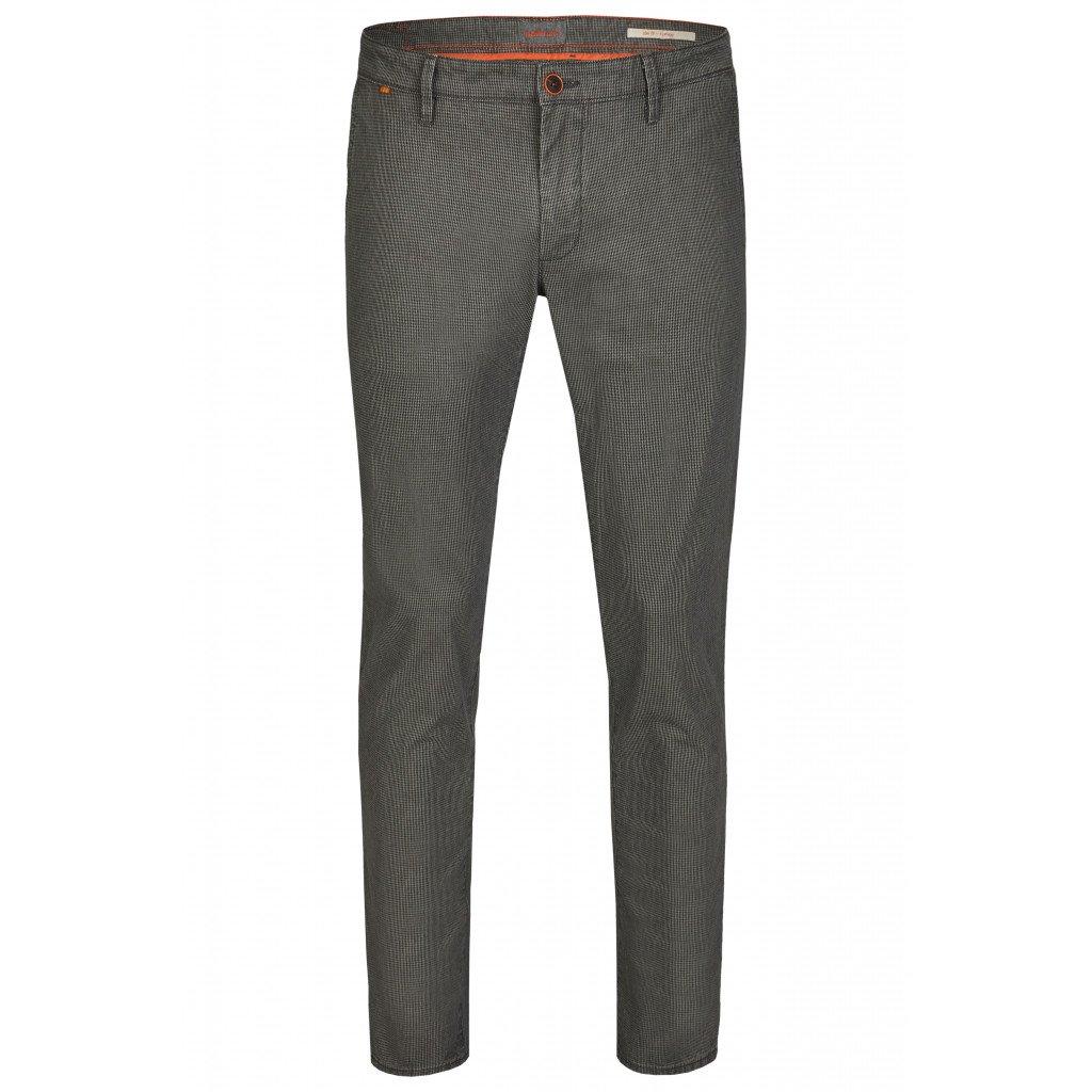 Pánske sivé pepitové chino nohavice HATTRIC modern fit