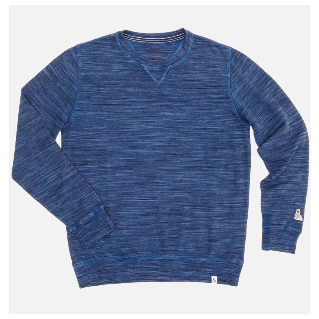 Pánsky modrý casual pulóver Colours&Sons