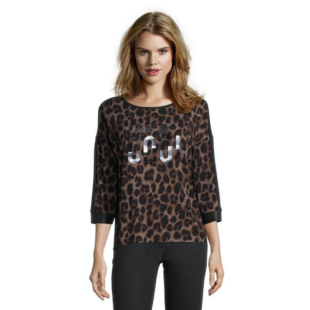 Dámske gepardové tričko s nápisom BETTY BARCLAY