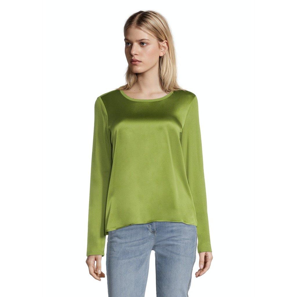 Dámsky zelený top s hodvábnym vzhľadom BETTY BARCLAY