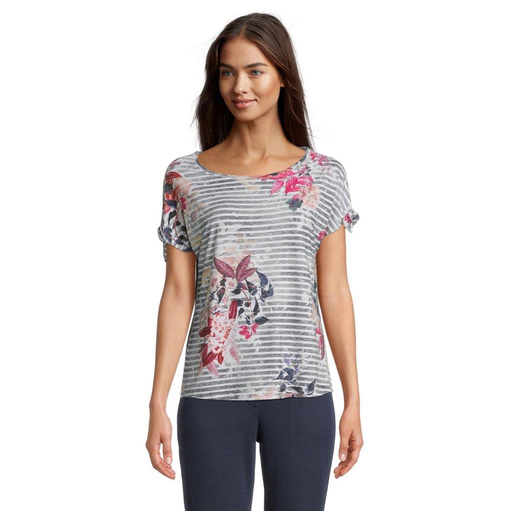 Dámske pásikavé tričko s kvetinami Betty&Co.