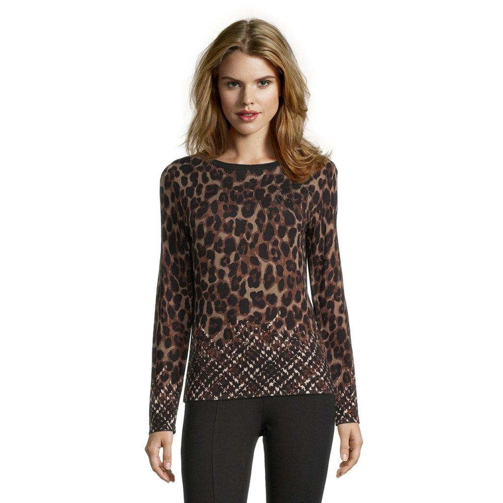 Dámsky pulóver s leopardím vzorom BETTY BARCLAY