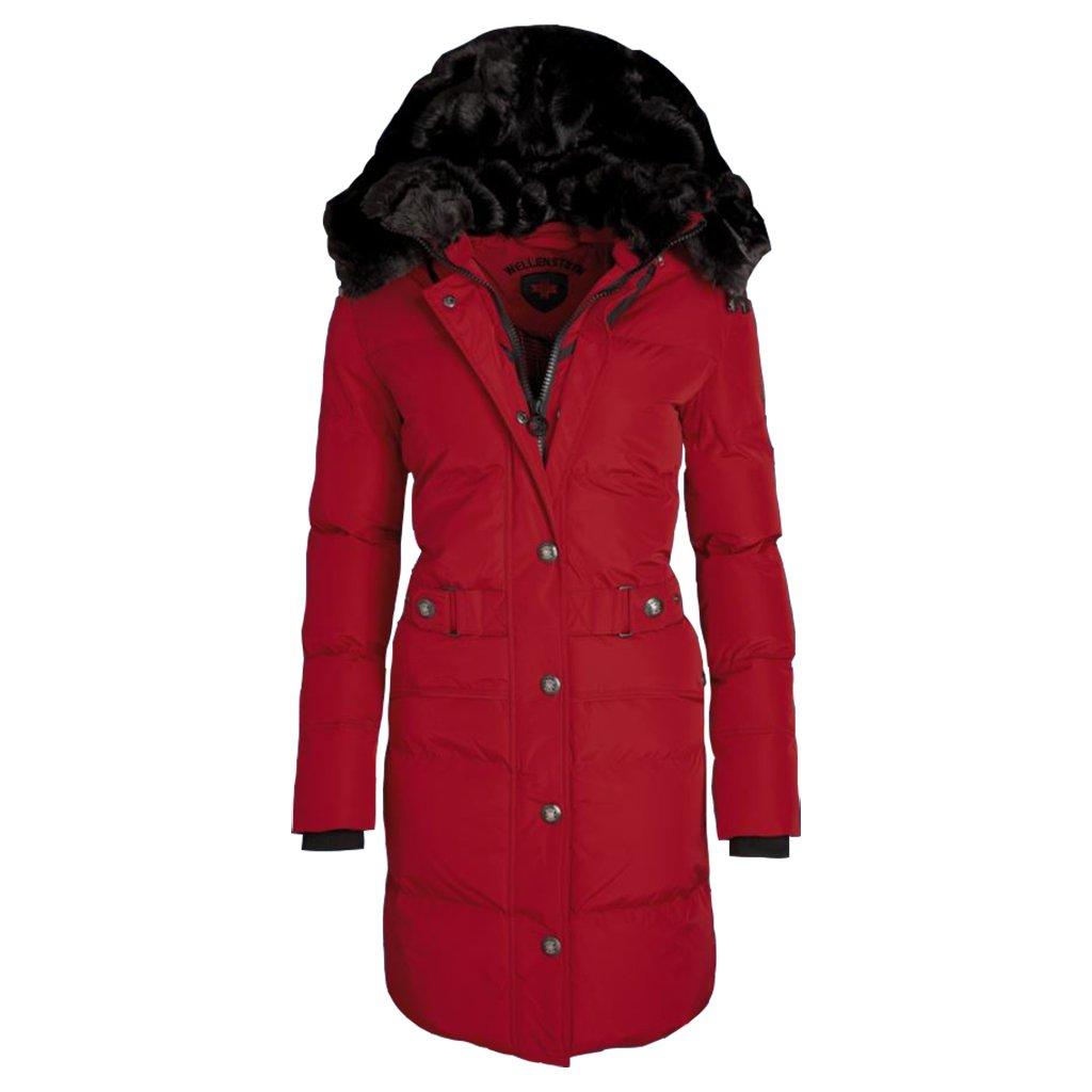 WELLENSTEYN Kitzbühel červený funkčný kabát s kožušinou