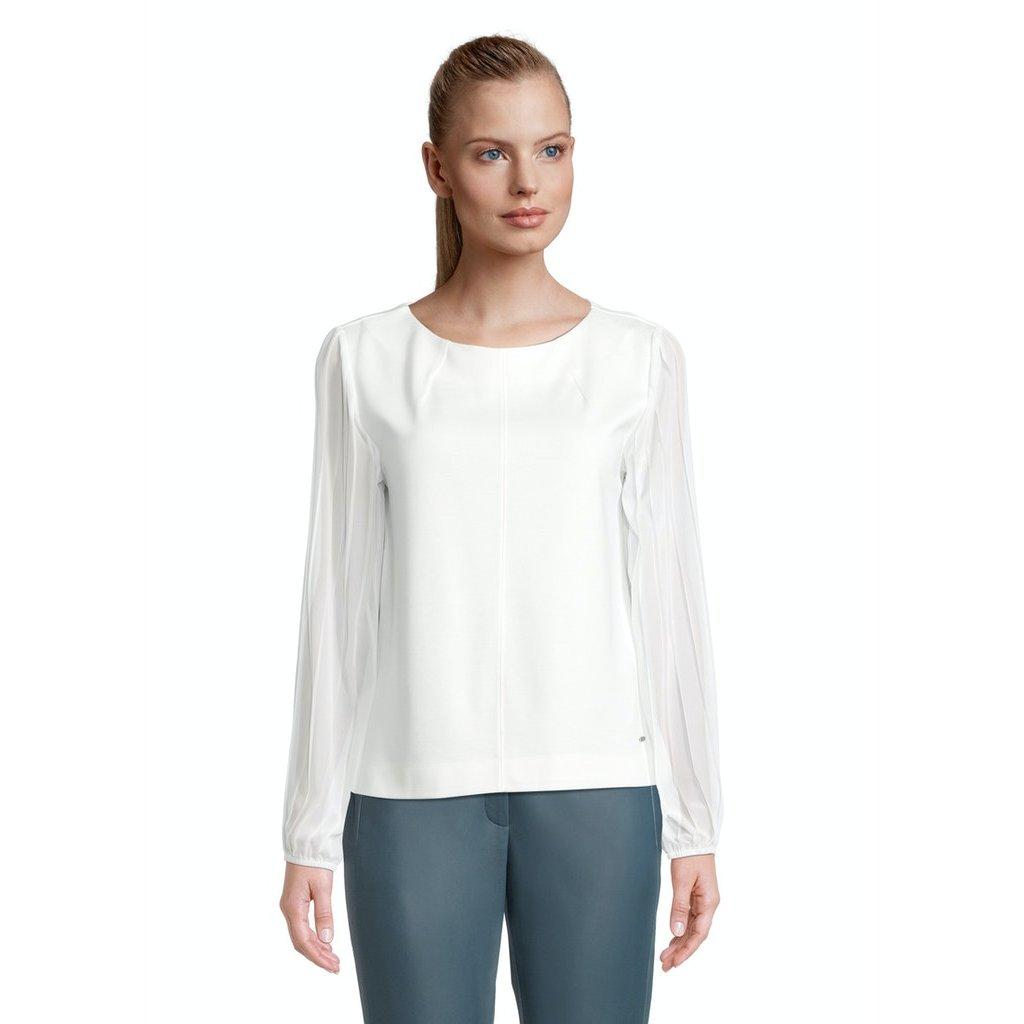 Dámske biely top s dlhým rukávom Betty&Co