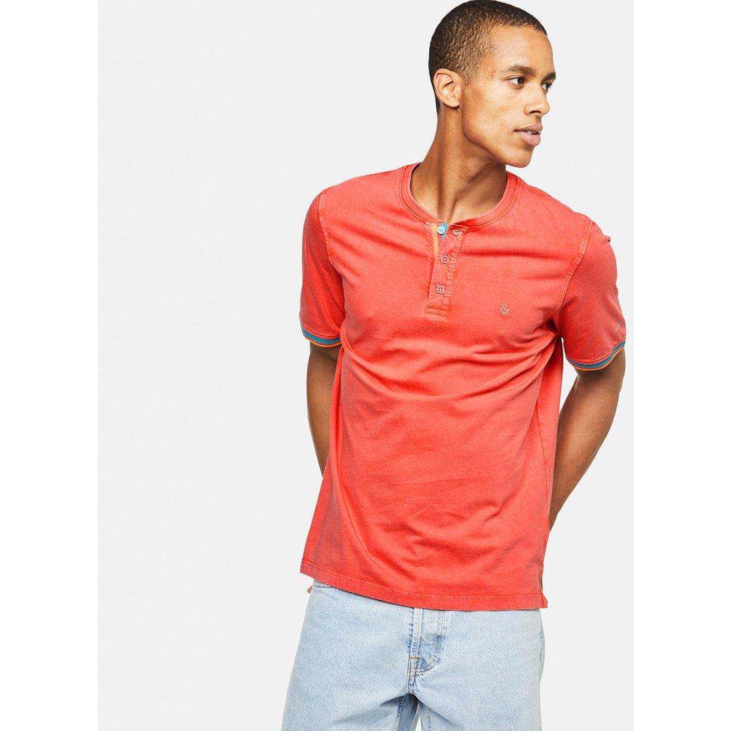 Pánske oranžové tričko s gombíkmi COLOURS&SONS