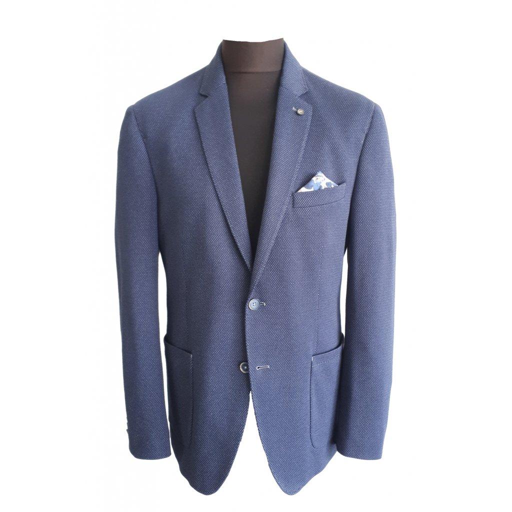 Pánske modré bavlnené sako CABANO, regular fit, XXL