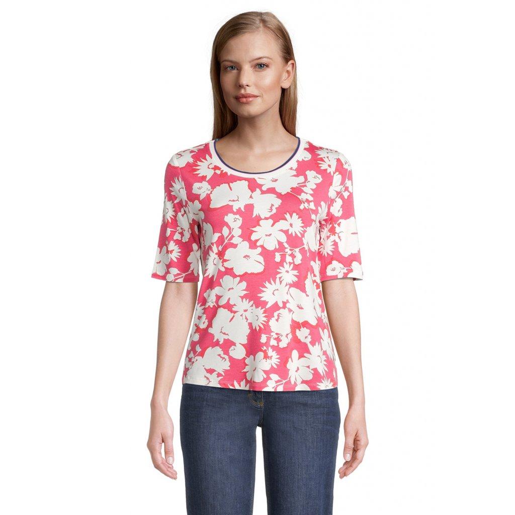 Dámske ružové kvetinkové tričko BETTY BARCLAY