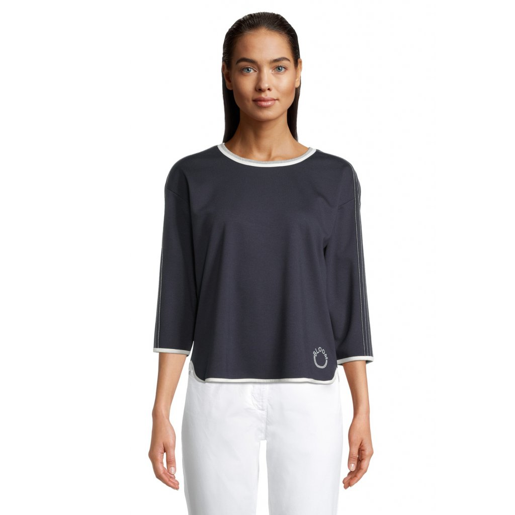 Dámske modré tričko s 3/4 rukávom BETTY BARCLAY