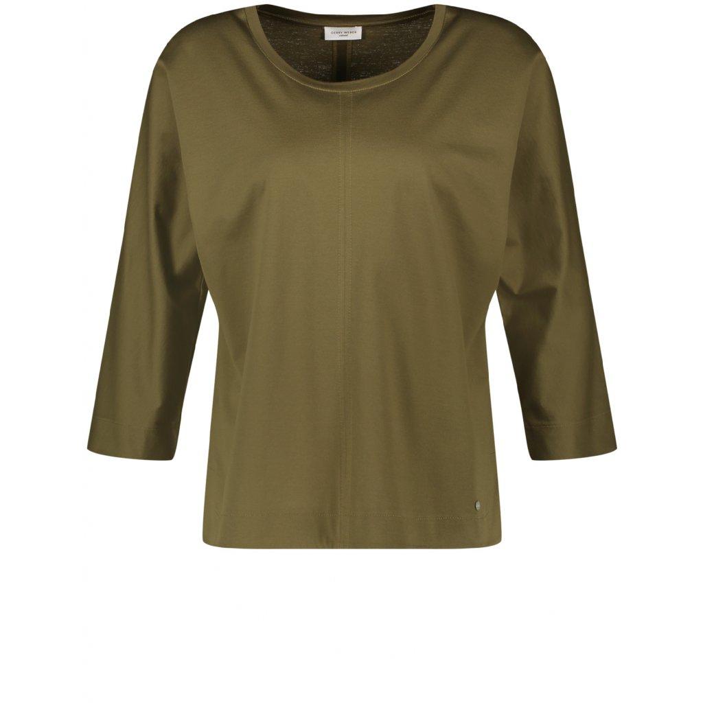 Dámske bavlnené kaki tričko GERRY WEBER