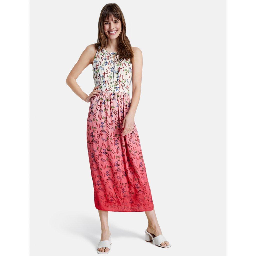 Dámske ružové kvietkované šaty TAIFUN