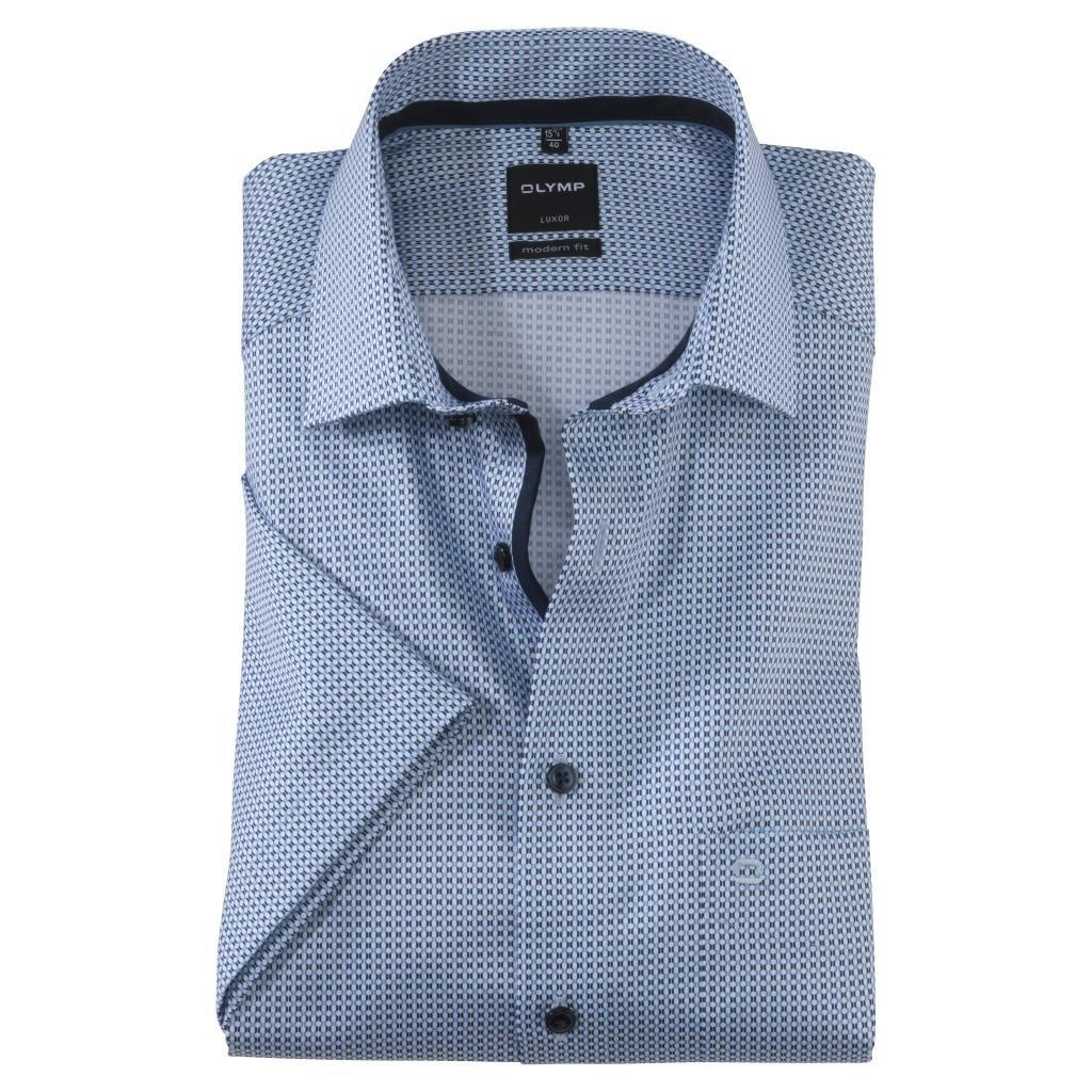Pánska modrá košeľa OLYMP modern fit nadmerná