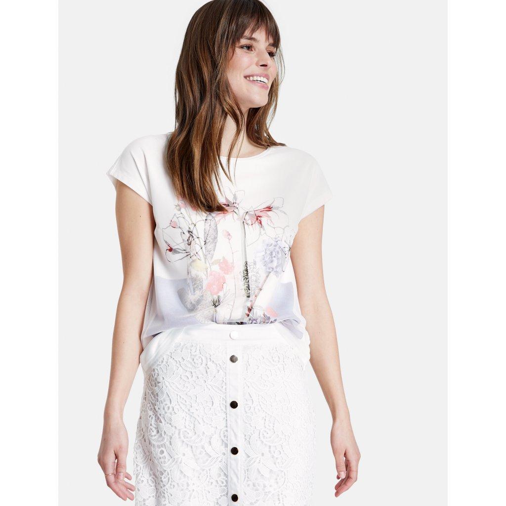Dámske biele tričko s potlačou TAIFUN