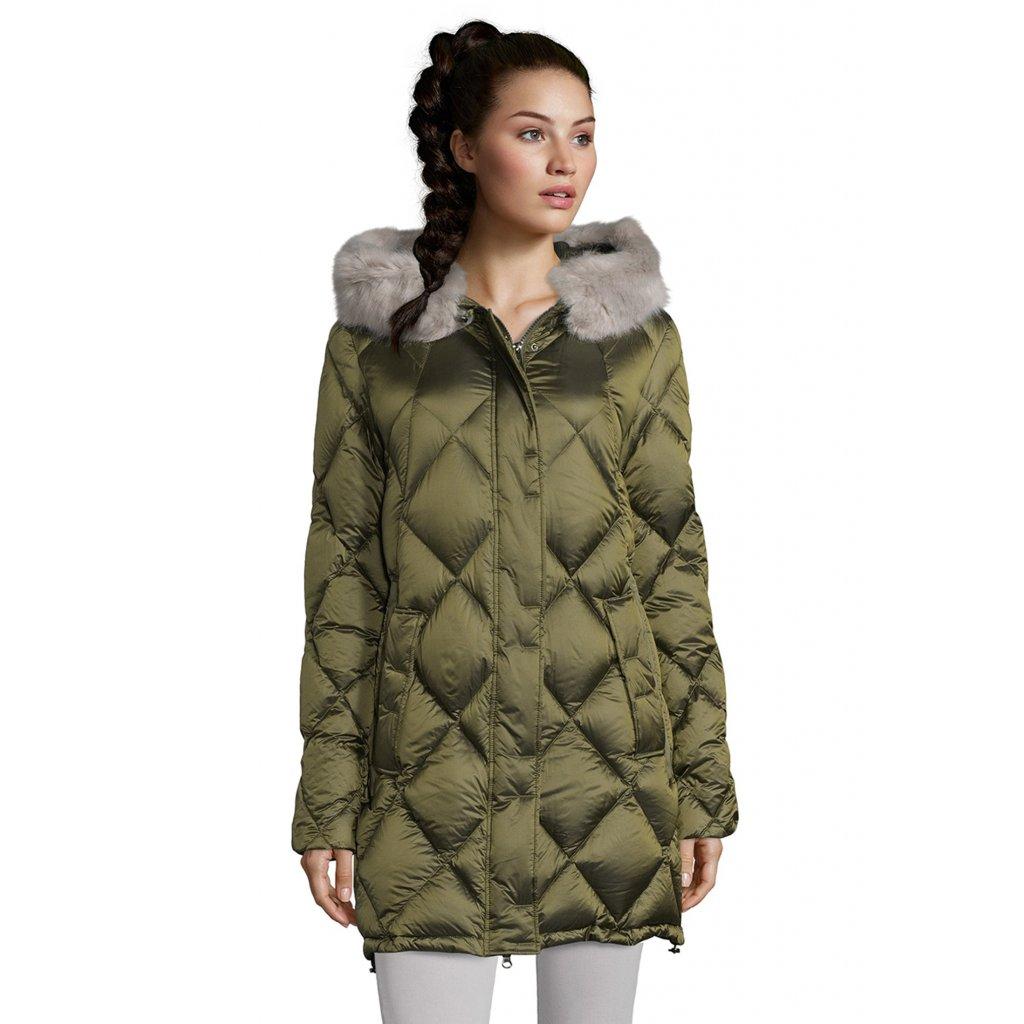 Dámska olivová páperová bunda BETTY BARCLAY