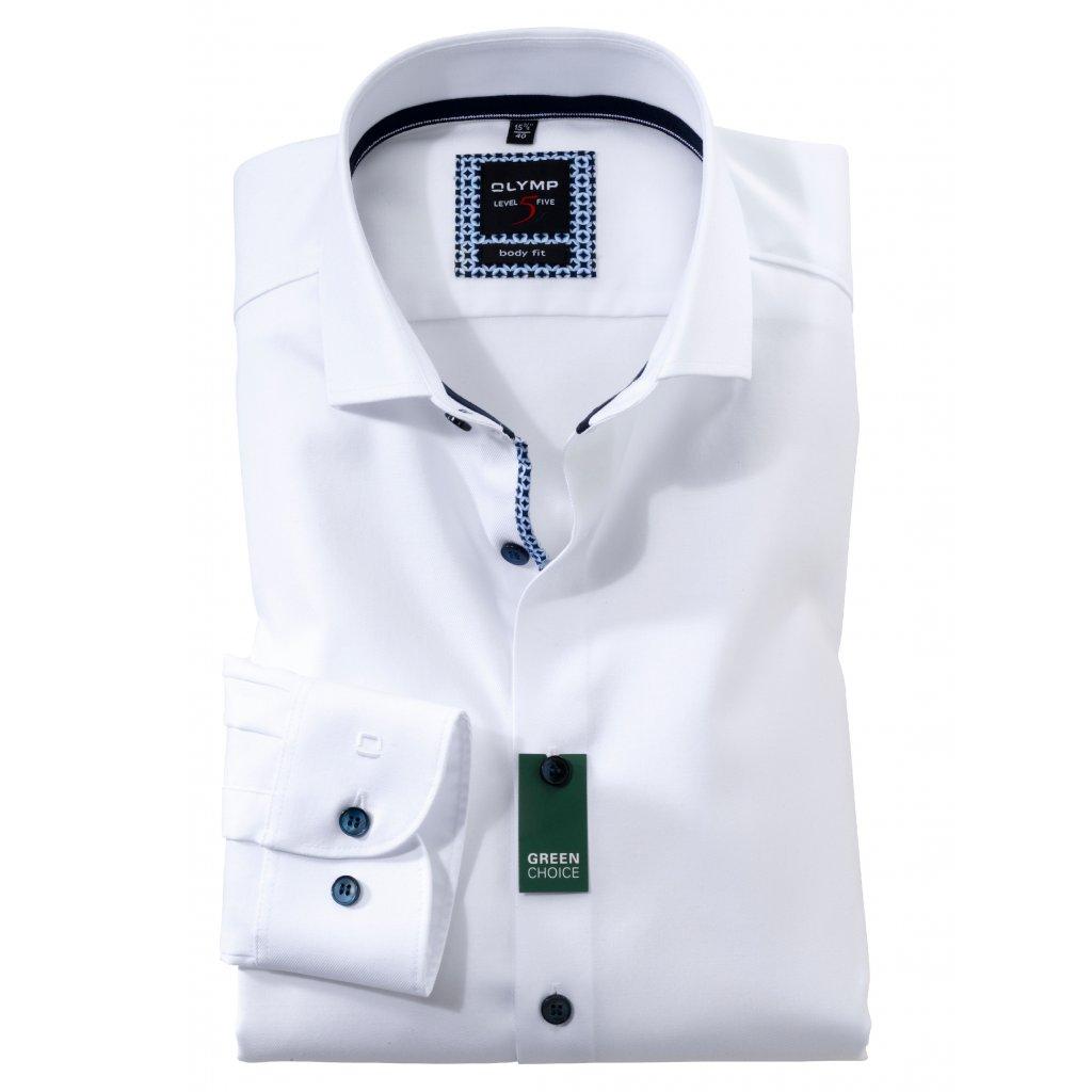 Pánska biela košeľa OLYMP body fit