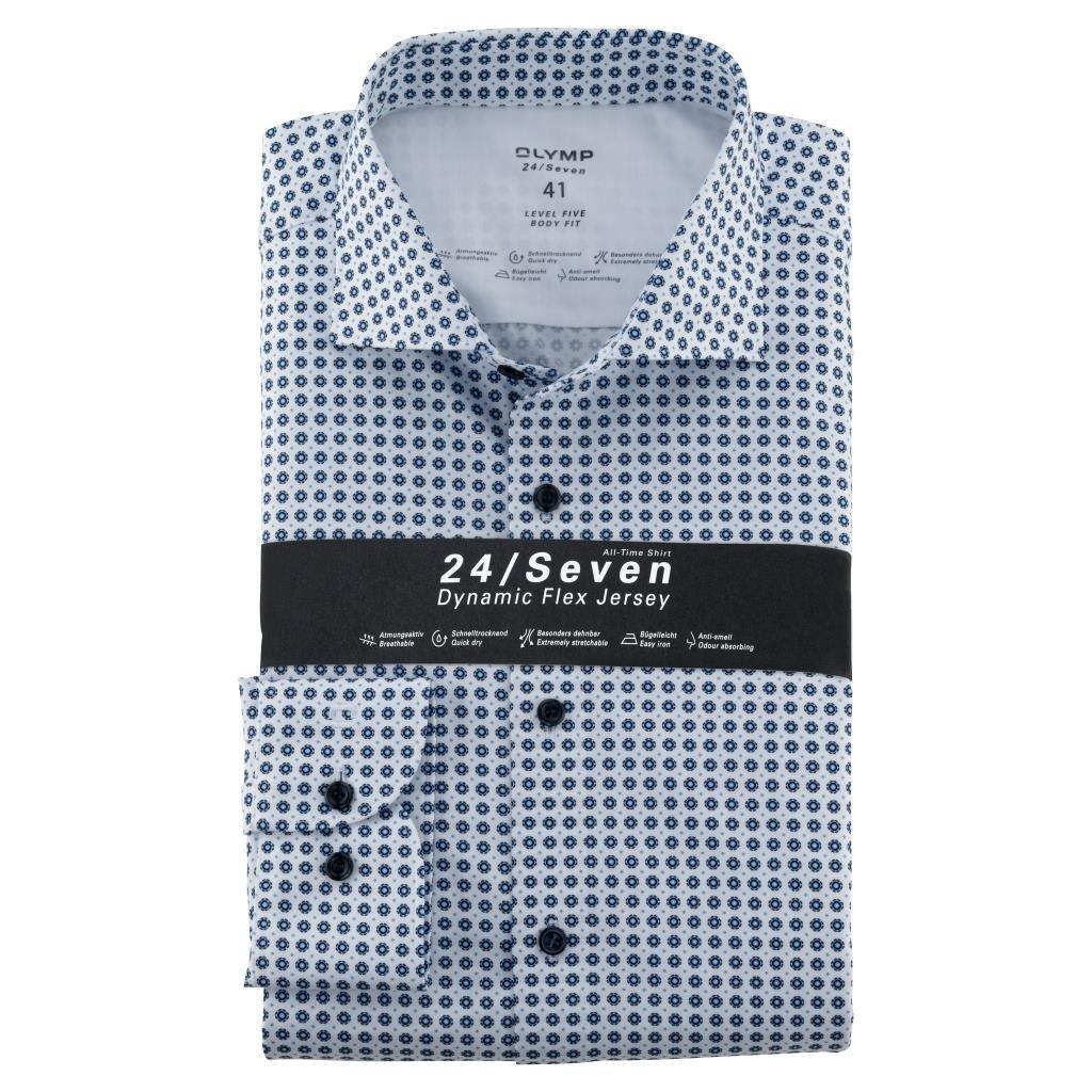 Pánska modrá 24/7 košeľa OLYMP body fit