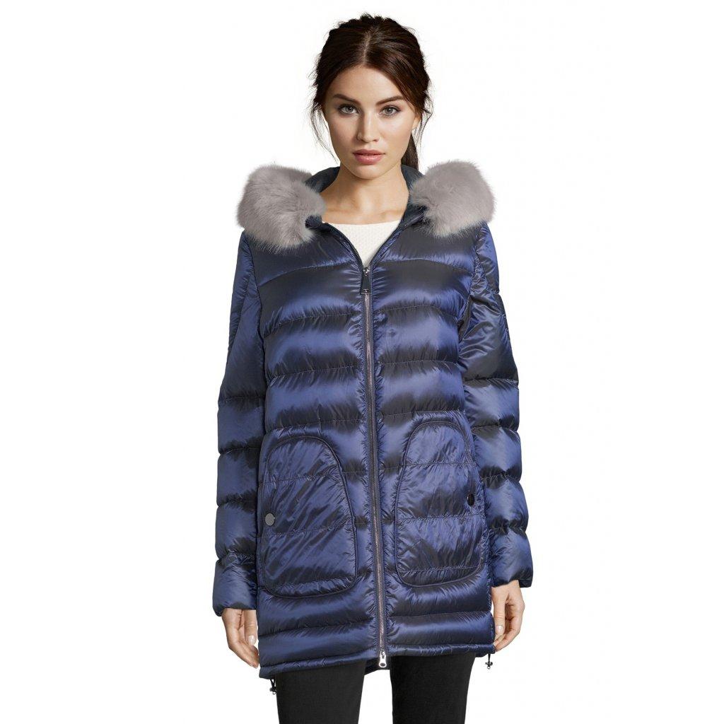 Dámska modrá zimná bunda BETTY BARCLAY