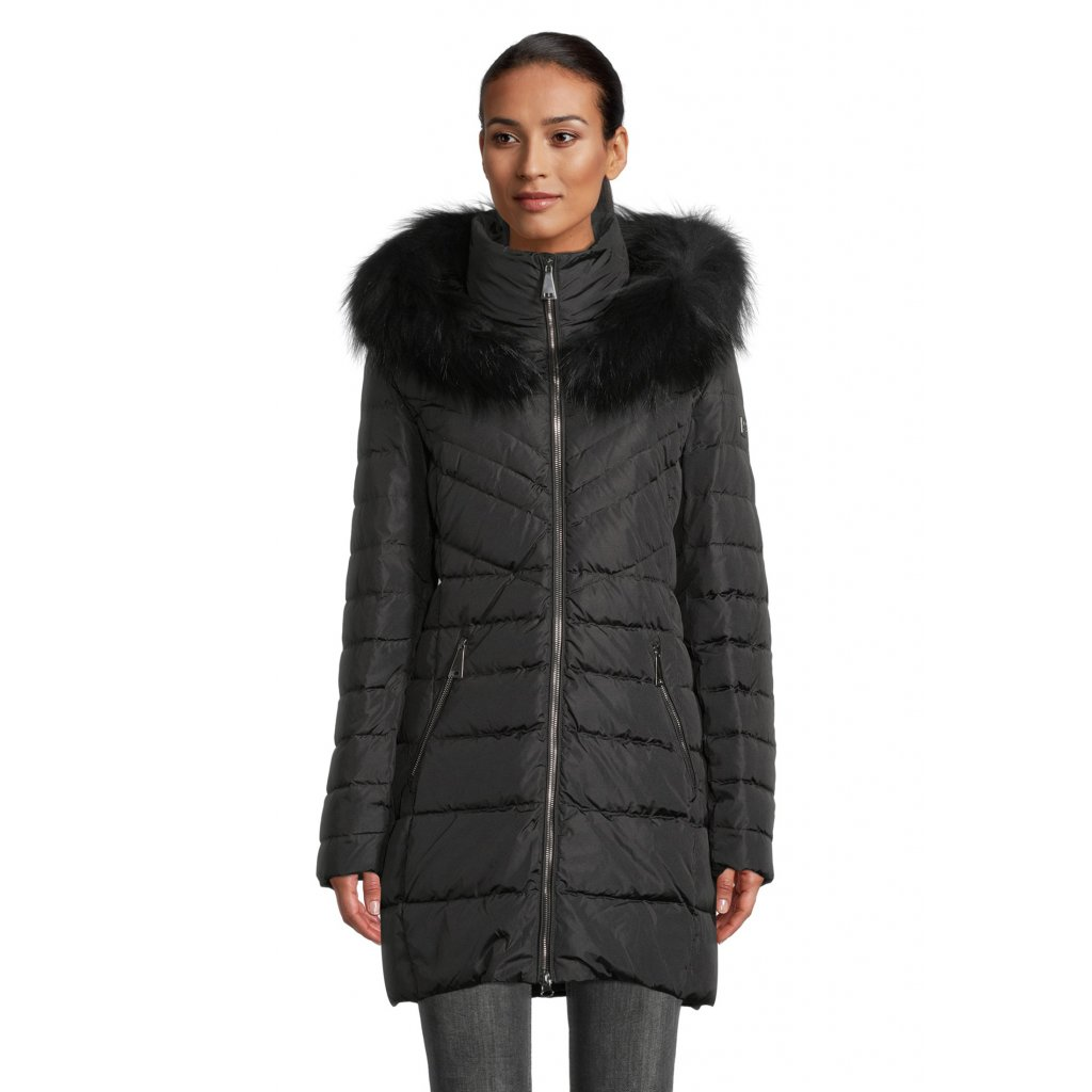 Dámska čierna páperová bunda BETTY BARCLAY