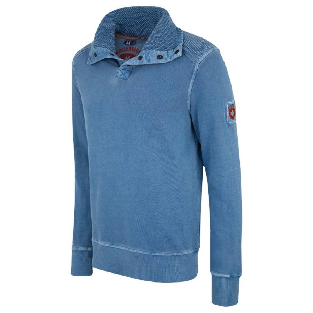 Značkový pánsky modrý pulóver WELLENSTEYN