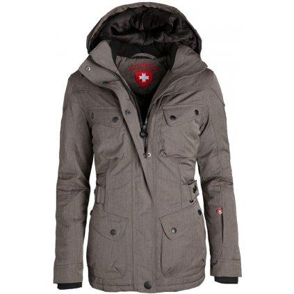 """WELLENSTEYN Cosmo - dámska funkčná """"casual"""" zimná bunda so vzhľadom vlnenej tkaniny"""
