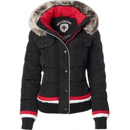 WELLENSTEYN Snowflake trendová funkčná zimná čierna bunda