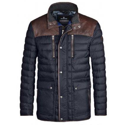 Prechodná pánska bunda s koženými detailmi MILESTONE, nadmerná veľkosť