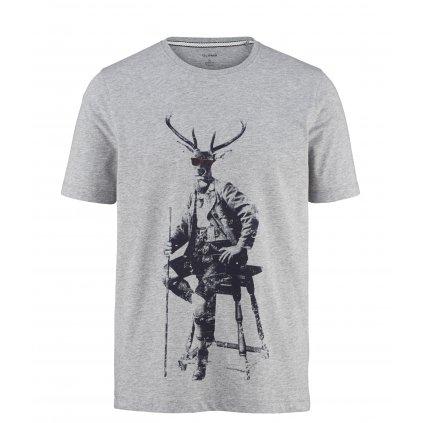 Moderné pánske sivé tričko OLYMP