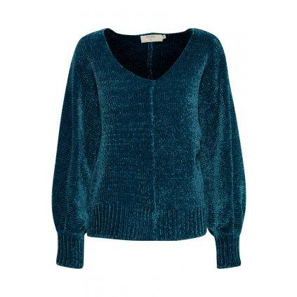 Elegantný dámsky modrý pulóver CREAM