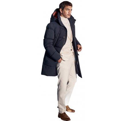 Moderná pánska dlhá zimná bunda S4