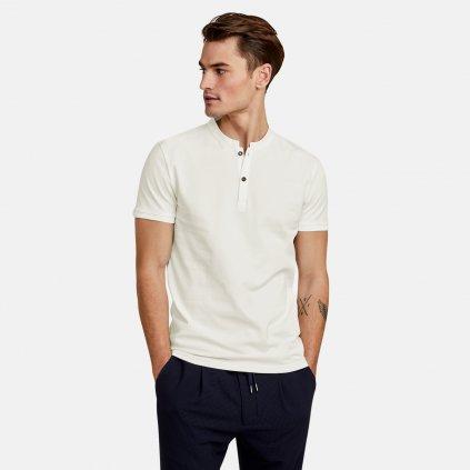 Pánske bavlnené tričko s gombíkmi NEW IN TOWN, slim fit
