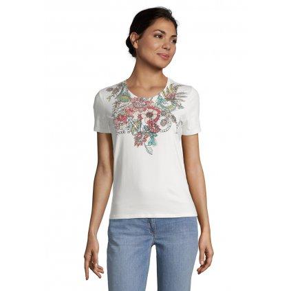 Dámske smotanové tričko s potlačou BETTY BARCLAY