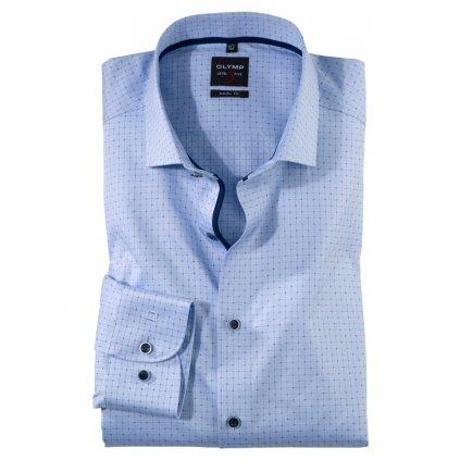 Pánska bledomodrá elegantná košeľa OLYMP, body fit
