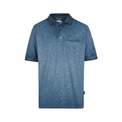 Pánska modrá bavlnená polokošeľa HAJO, modern fit