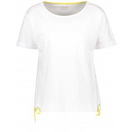 Biele tričko so žltými šnúrkami GERRY WEBER