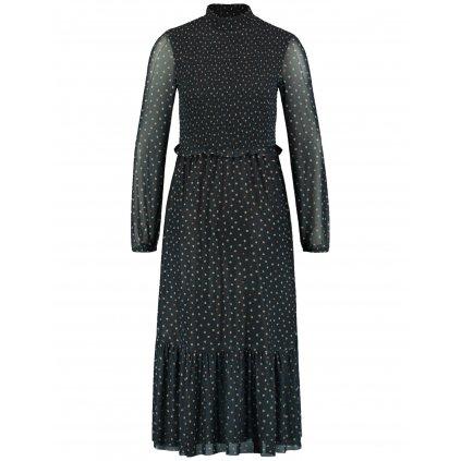 Dlhé šaty z elestického tylu s volánom TAIFUN