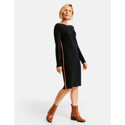 Dámske čierne šaty s pásikom GERRY WEBER