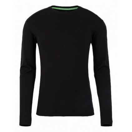 Pánske čierne tričko s dlhým rukávom WELLENSTEYN