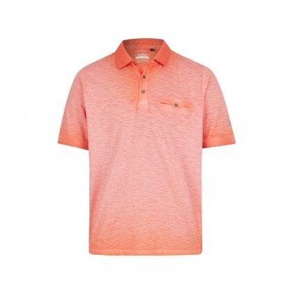 Pánska bavlnená oranžová polokošeľa HAJO, modern fit