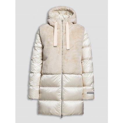 Dámska luxusná páperová bunda s umelou kožušinou BEAUMONT