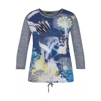Pestré tričko s trojštvrťovými  rukávmi LE COMTE
