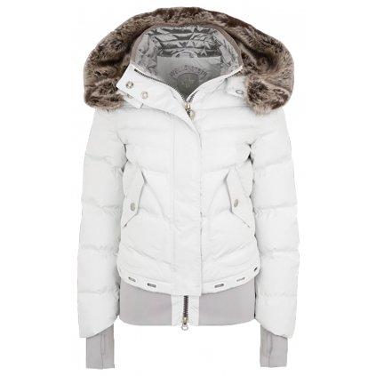 WELLENSTEYN Queens krátka biela trendová zimná bunda