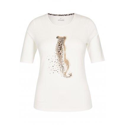 Dámske béžové tričko s gepardom RABE