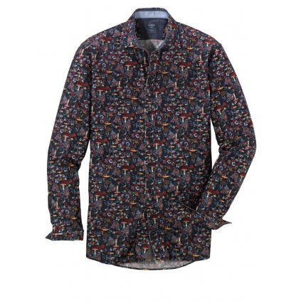 Pánska bavlnená casual košeľa OLYMP